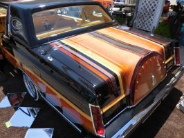 Black Lincoln Continental Lowrider rear by Jetster1