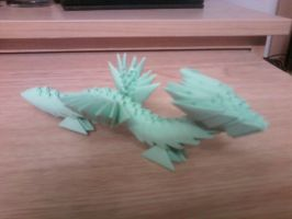 3D Origami Dragon by SeemsGood