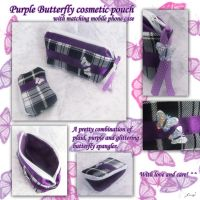 PurpleButterfly cosmetic pouch by BlueDove415