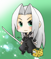 Commission -Gift of Sephiroth- by SisterBelldandy