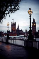 London At Dusk by Anawielle