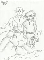link and dad by wabodisnay