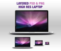 Layered PSD and PNG Laptop by webodream