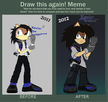 Draw This Again Meme - Classic Xavier Style! by XaviertheHedgehog66