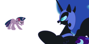 Dusk Shine and Nightmare Moon (WIP) by SKULLZ-is1
