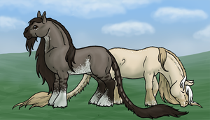 Pleasant Afternoon Grazing by BlueLadyAces