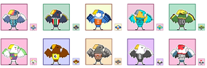 Animal Crossing Pixel Avatars- Eagles by Maareep