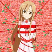 .: SAO : Captive Princess Asuna :. by Sincity2100