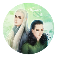 Thranduil and Loki by seirenity