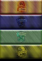 Journal Skin Hogwarts Houses by Foxxy-Sly
