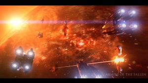 Armies of the Fallen: Orbital Battle by MartinKlekner