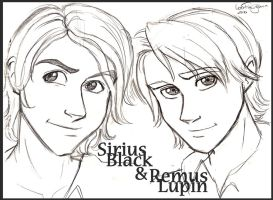 Sirius and Remus Redesign by irishgirl982