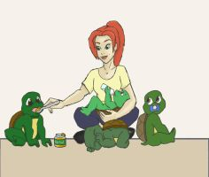 TMNT Just Babysitting by K-Lynn99
