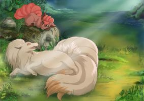 poke New life - curious Vulpix by littlepolka