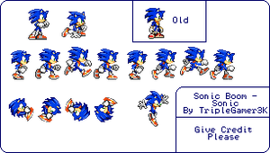 Sonic Boom - Sonic Sprites - Basic Movement by triplesonicX