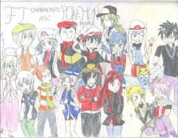 FT Characters as Pokemon People! by AquaMiyuki