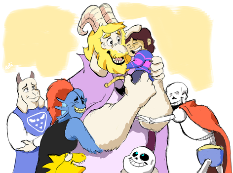 Happy 1st Anniversary, Undertale! by atlantart