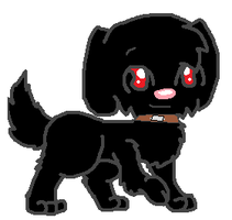Shadow as a Dog by thecat1313