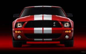 Shelby Mustang GT500E red by Fibonacci89