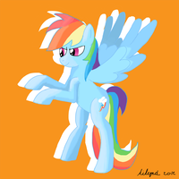 Quick rainbow dash by Ailynd