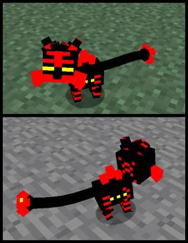 Minecraft Clay Litten WIP by FuzzyAcornIndustries
