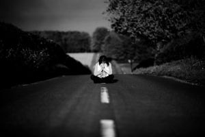 On The Black and White Road by escaped-emotions