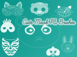 Cute Mask Photoshop Brushes by petermarge