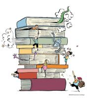 Stack of books: DeviantArt ID to be used by me by tyw7