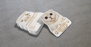 Cat kitten business card design by Lemongraphic