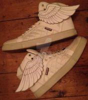 DIY Winged Shoes by MegzWills