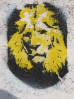 Lion stencil by Slik6