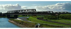 Bridge over the Rhine River by gregorland