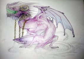Purple dragon ( work in progress ) by WhiteRose2132