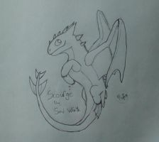 Scourge the Sand Wraith - Request - Uncolored by ShimmerRainWing