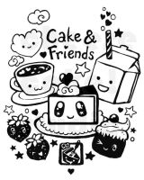 Cake and Friends by daliciously