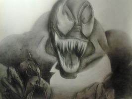 Venom work in progress by SKETCHNIFICENT