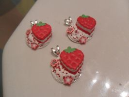 Cute Strawberry Deco-den Charms by OceanTheEspeon