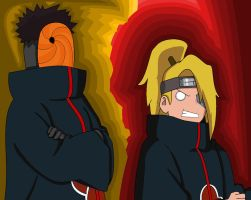 Tobi and Deidara by xXUnicornXx