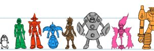 Height Chart borockman series Robot Master by borockman
