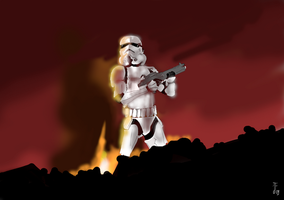 Speed painting - Stormtrooper by LyInIa
