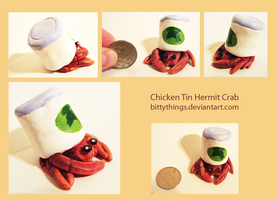 Chicken Tin Hermit Crab - COMMISSION by Bittythings
