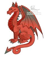 Welsh Dragon Mascot by HeatherHitchman