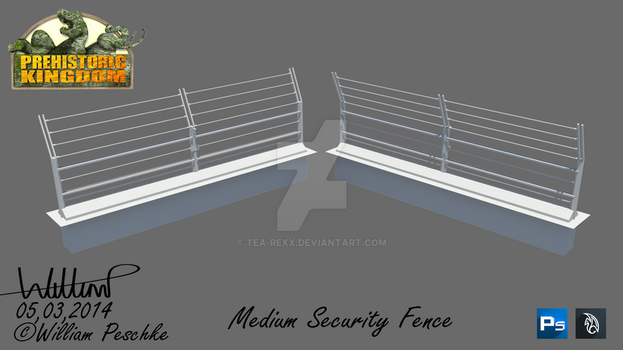 PK Mediun Security Fence by Tea-rexx
