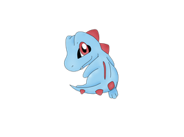 Chibi Totodile by Helix1234