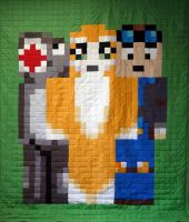 Another Version of the Minefriends quilts by 8bitHealey