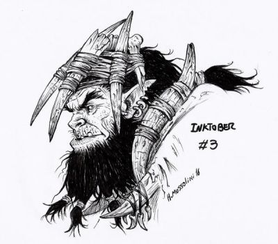 Orc shaman - Inktober 3 by BrokenMachine86