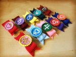 Sailor Senshi Felt Hair Bow Clip/ Clothes Brooches by Monostache