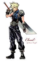 Cloud Strife KH by Down-a-Rabbit-Hole