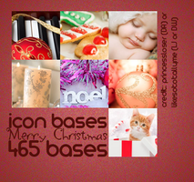 Christmas 2011 Icon Bases by princessloser