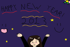 Happy new year!!!! 2013!!!!!! by scarymovie13